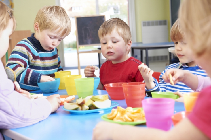 Picture of children eating.