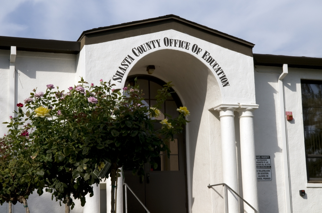 Image of the entrance to the County Office of Education