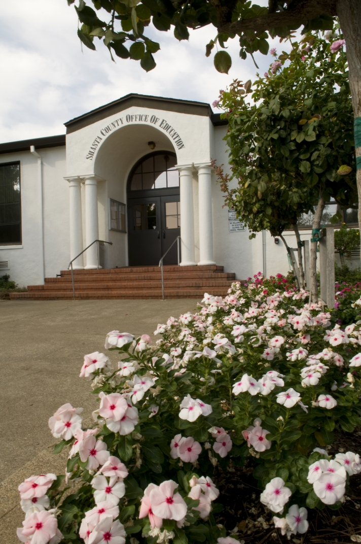 Image to the front entrance of the County Office of Education