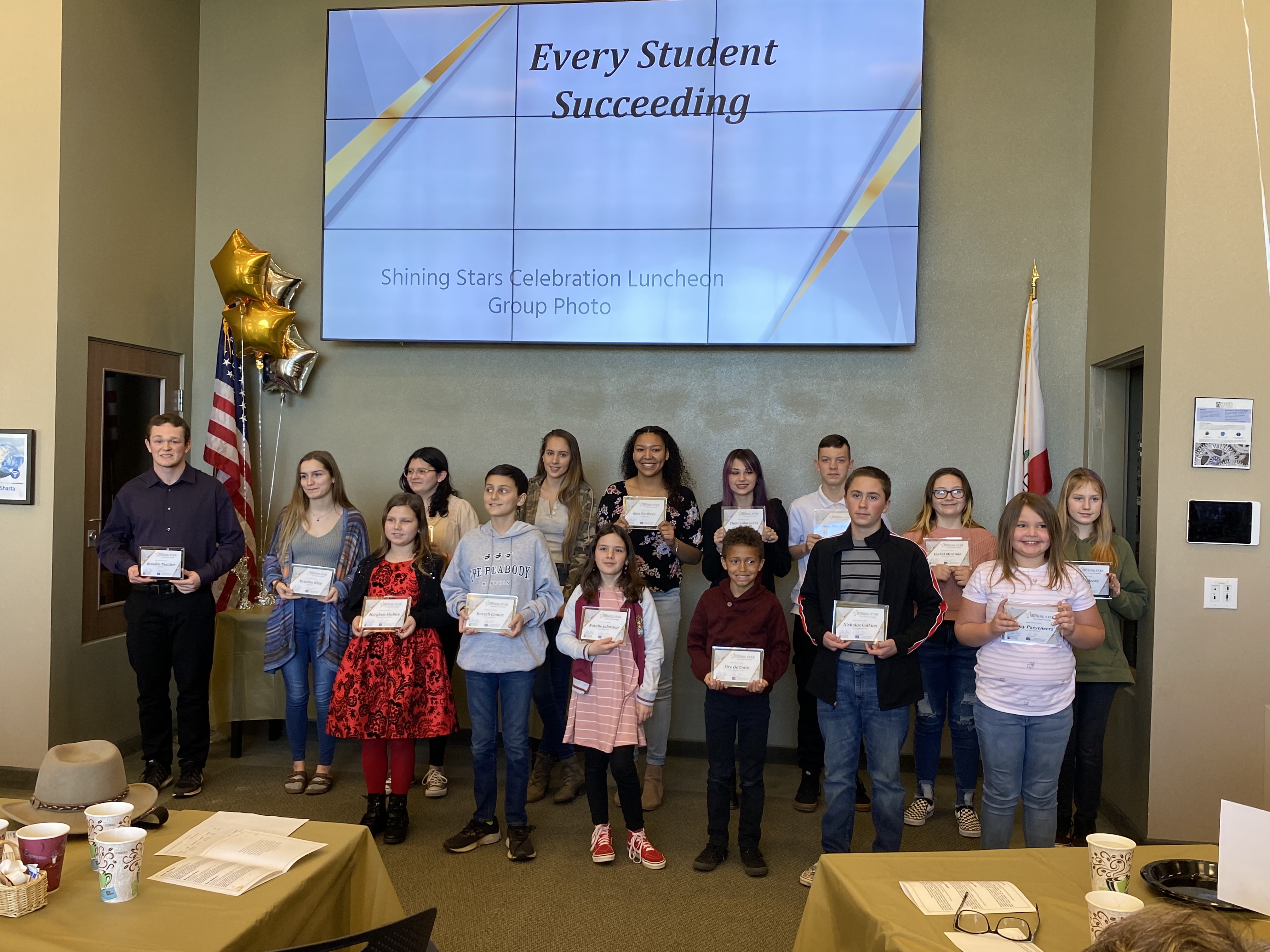 Students participating in the Every Student Succeeds luncheon