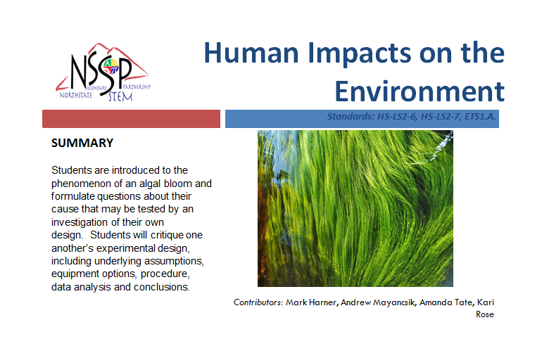 Human Impacts on the Environment link