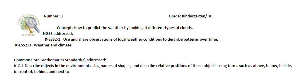 Predict weather with clouds lesson